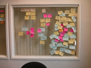 our post it note window