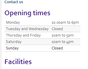 old opening times
